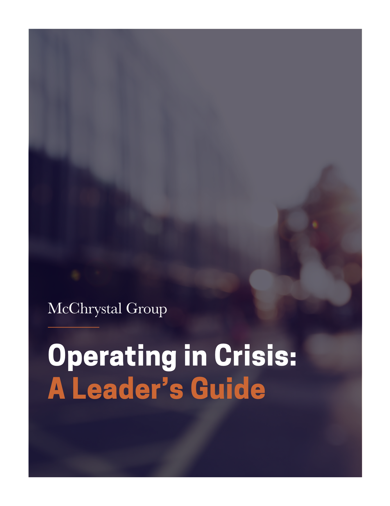 Preview of Operating in Crisis: A Leader's Guide