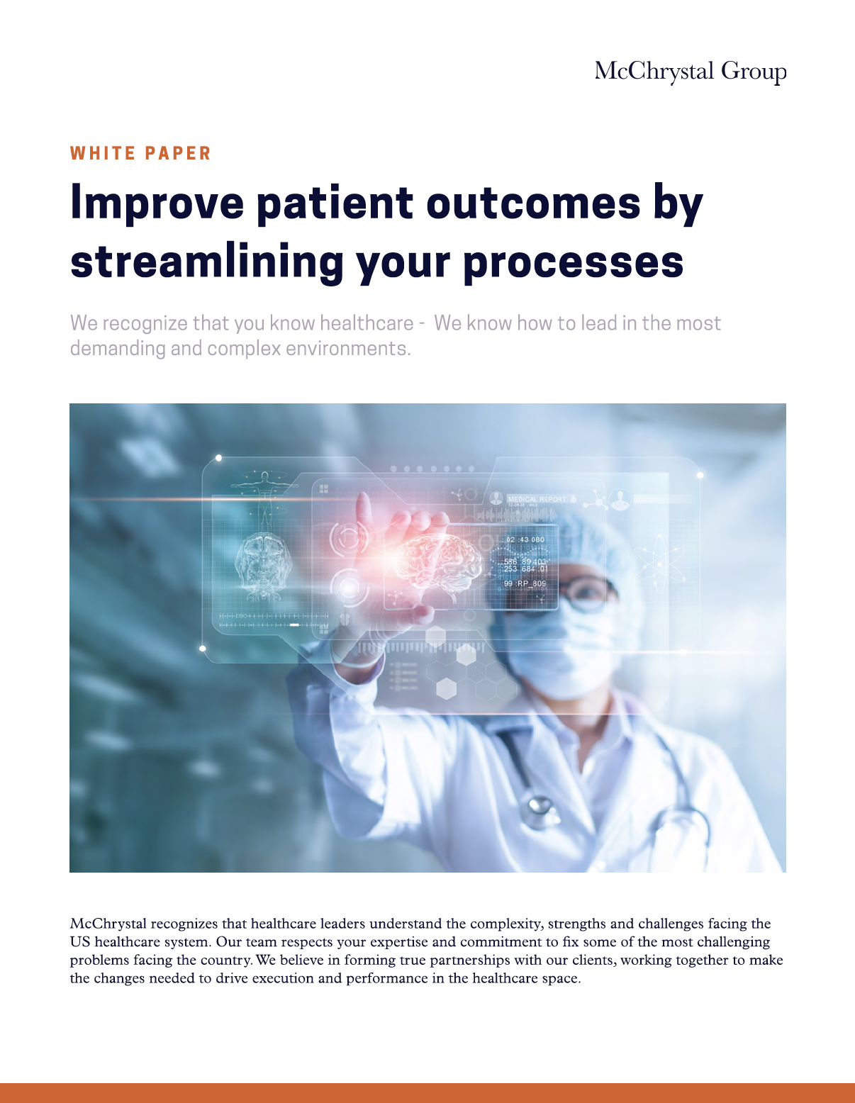 Preview of White Paper: Improve Patient Outcomes by Streamlining Your Processes