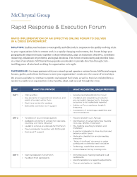 Preview of Rapid Response & Execution Forum
