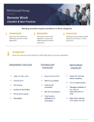 Preview of REMOTE WORK CHECKLIST & BEST PRACTICES